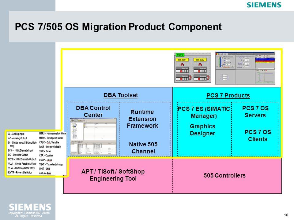 PCS 7/505 OS Migration Product Component