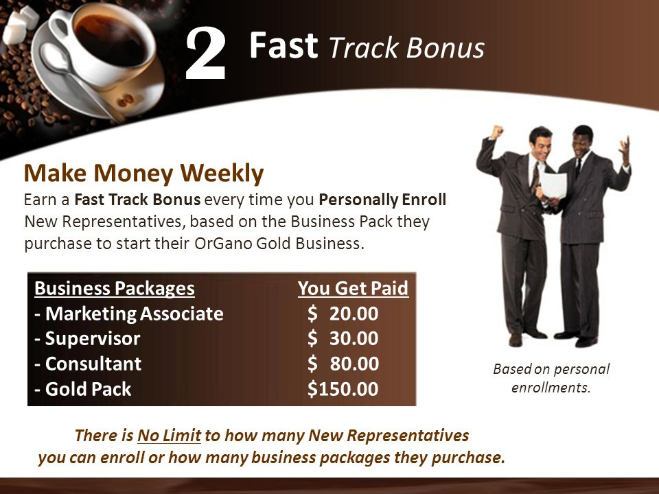 2 Fast Track Bonus Make Money Weekly Business Packages You Get Paid