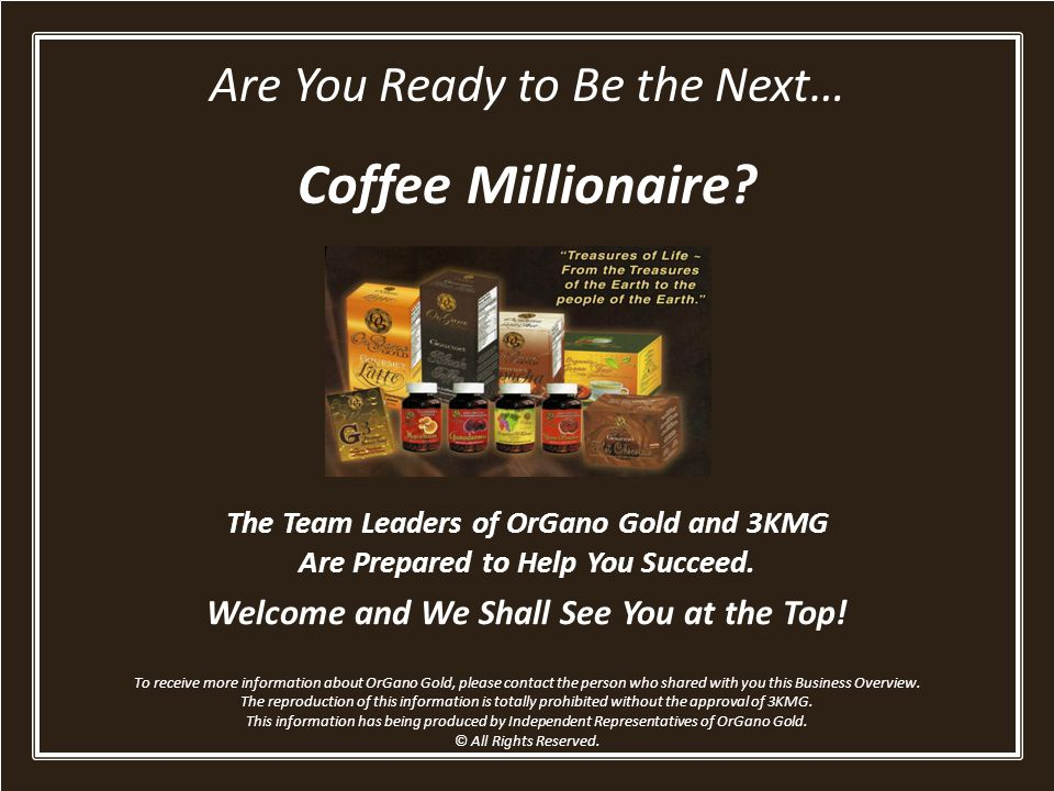 Coffee Millionaire Are You Ready to Be the Next…