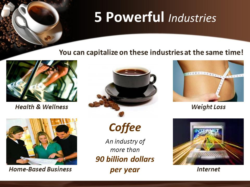5 Powerful Industries Coffee 90 billion dollars per year