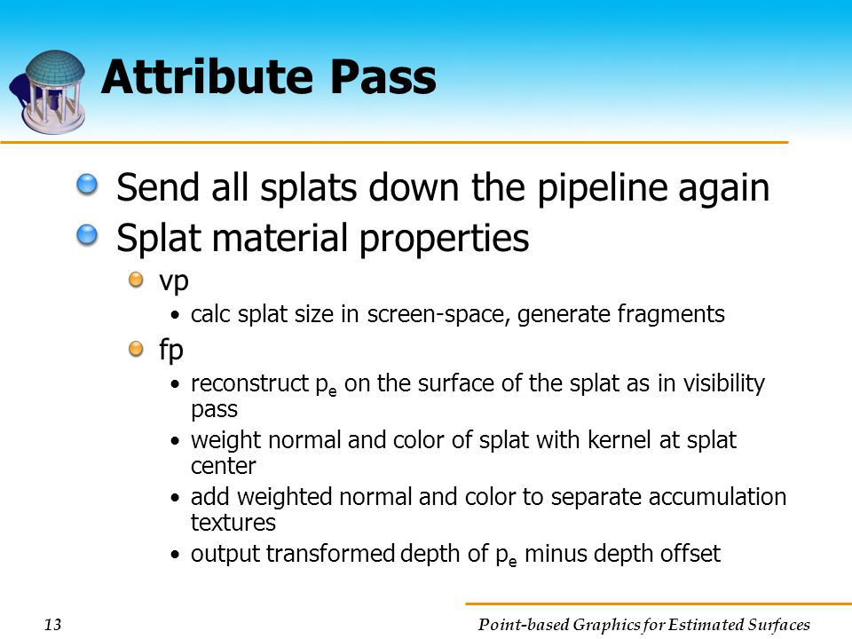 Attribute Pass Send all splats down the pipeline again