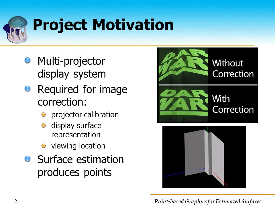 Project Motivation Multi-projector display system