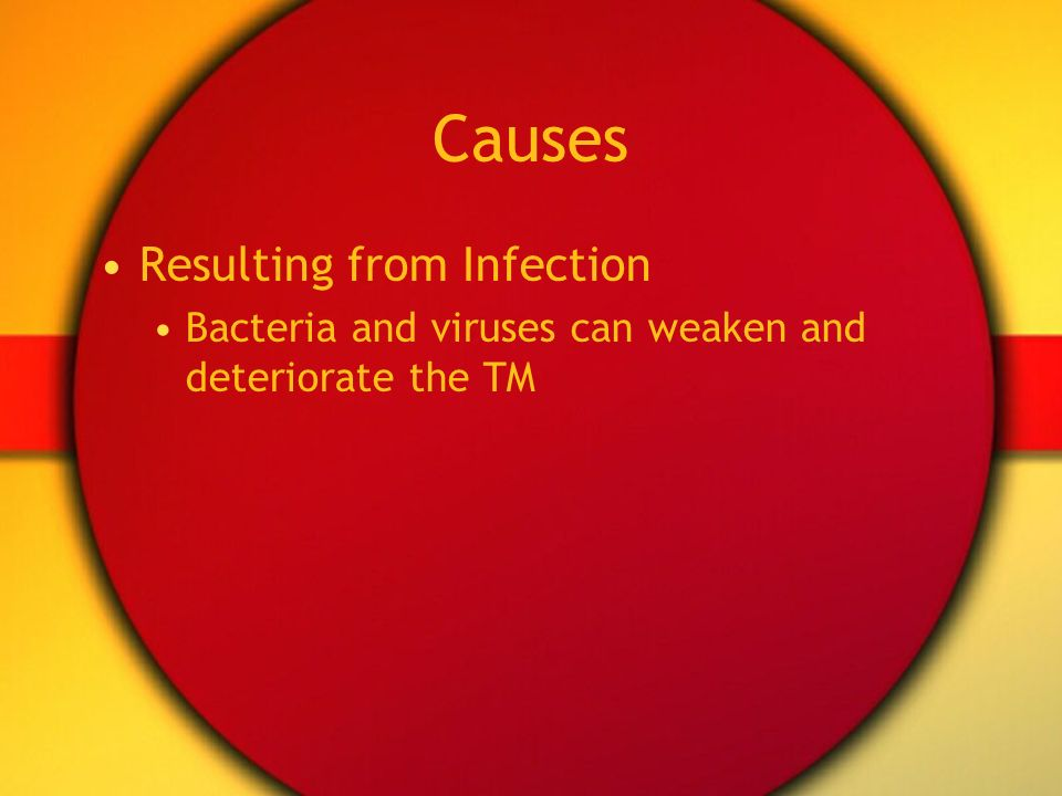 Causes Resulting from Infection