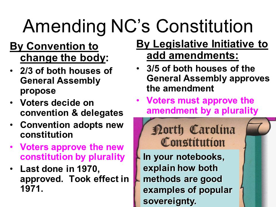 Amending NC's Constitution