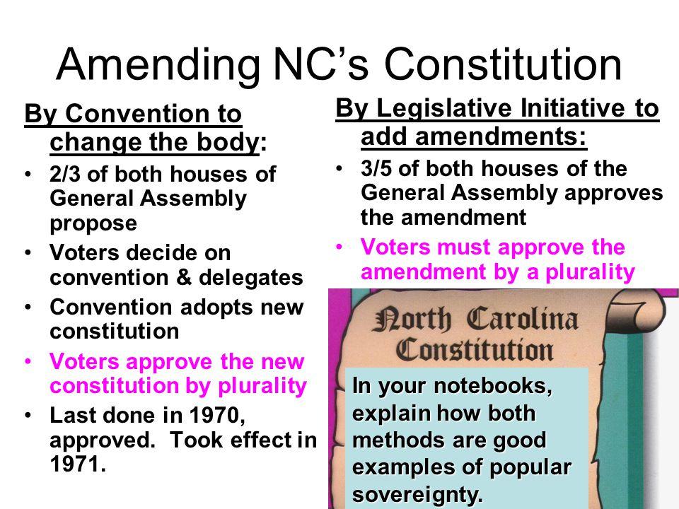 Amending NC's Constitution