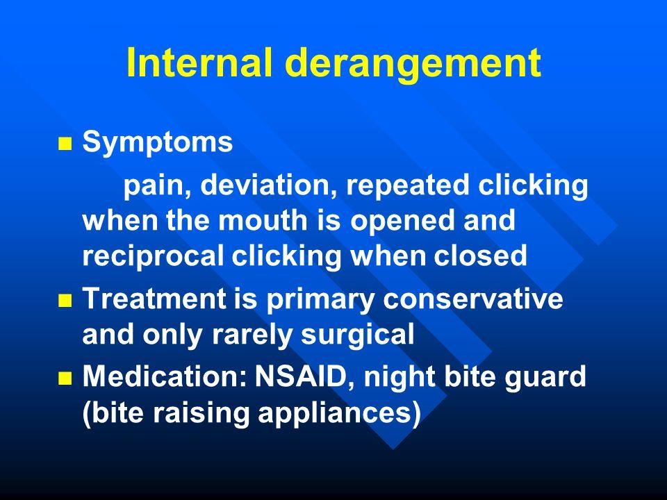 Internal derangement Symptoms