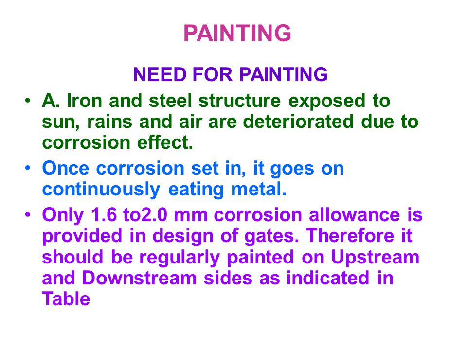PAINTING NEED FOR PAINTING
