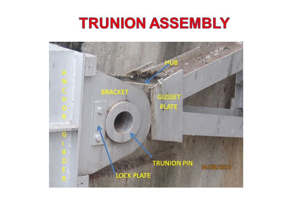 TRUNION ASSEMBLY HUB ANCHOR GIRDER BRACKET GUSSET PLATE TRUNION PIN