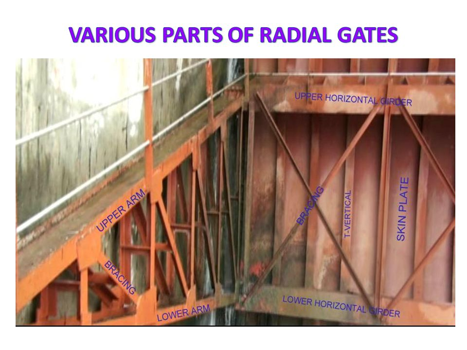VARIOUS PARTS OF RADIAL GATES