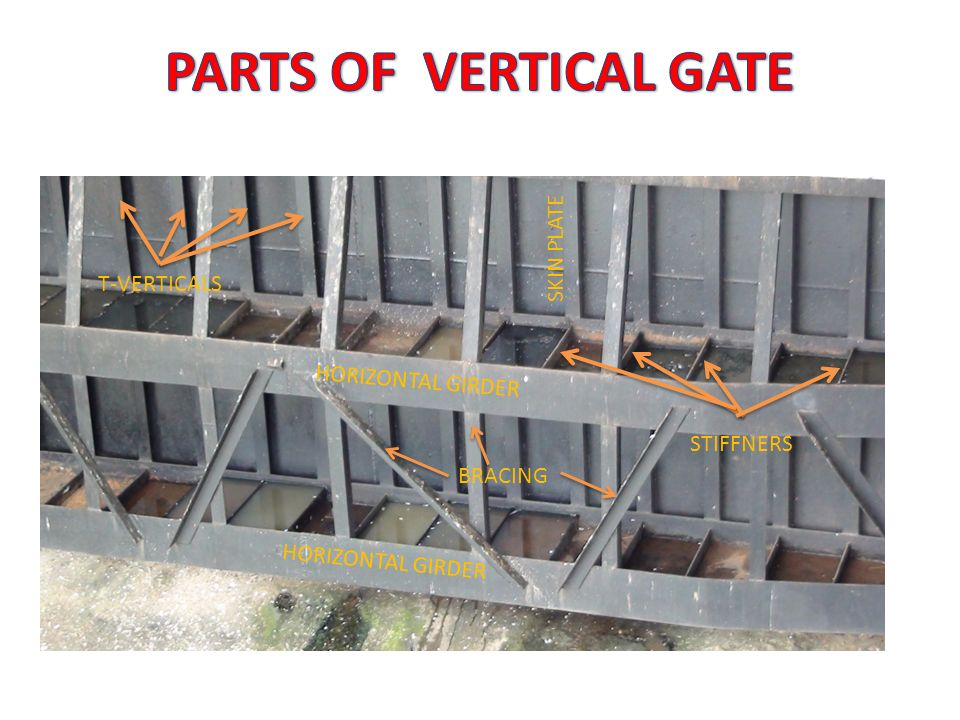 PARTS OF VERTICAL GATE SKIN PLATE T-VERTICALS HORIZONTAL GIRDER