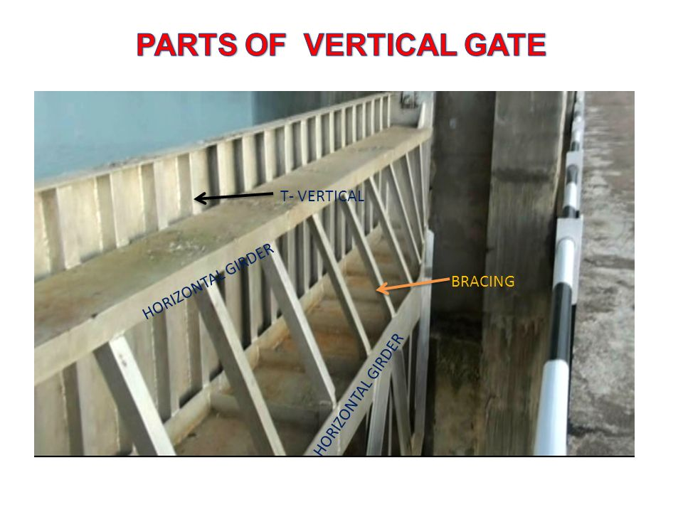 PARTS OF VERTICAL GATE T- VERTICAL HORIZONTAL GIRDER BRACING