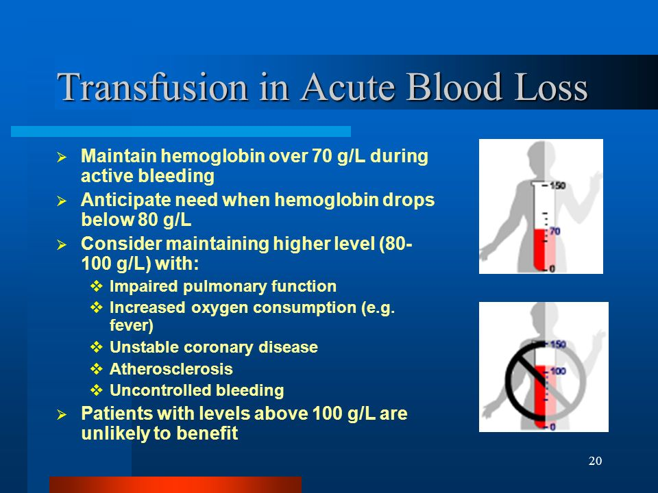 Transfusion in Acute Blood Loss