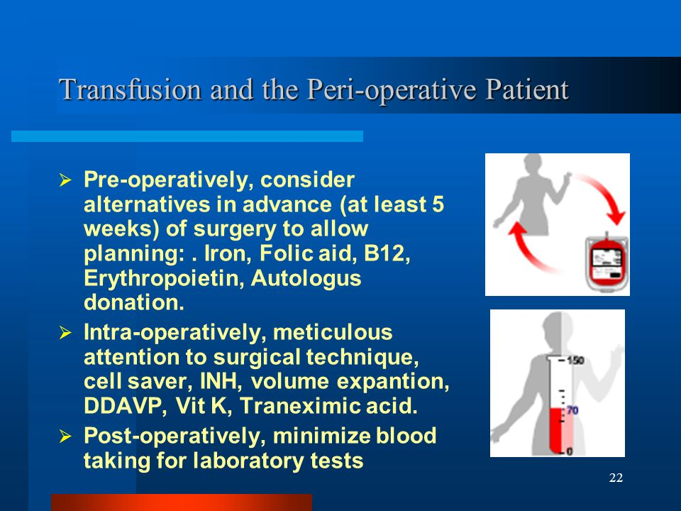 Transfusion and the Peri-operative Patient