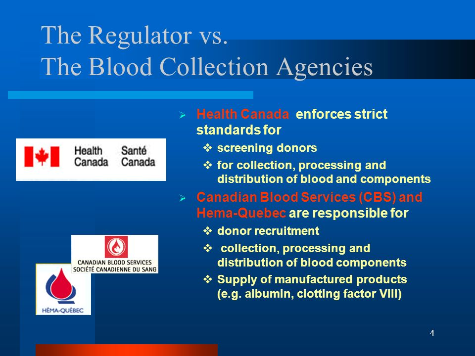 The Regulator vs. The Blood Collection Agencies