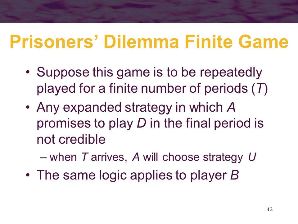 Prisoners' Dilemma Finite Game