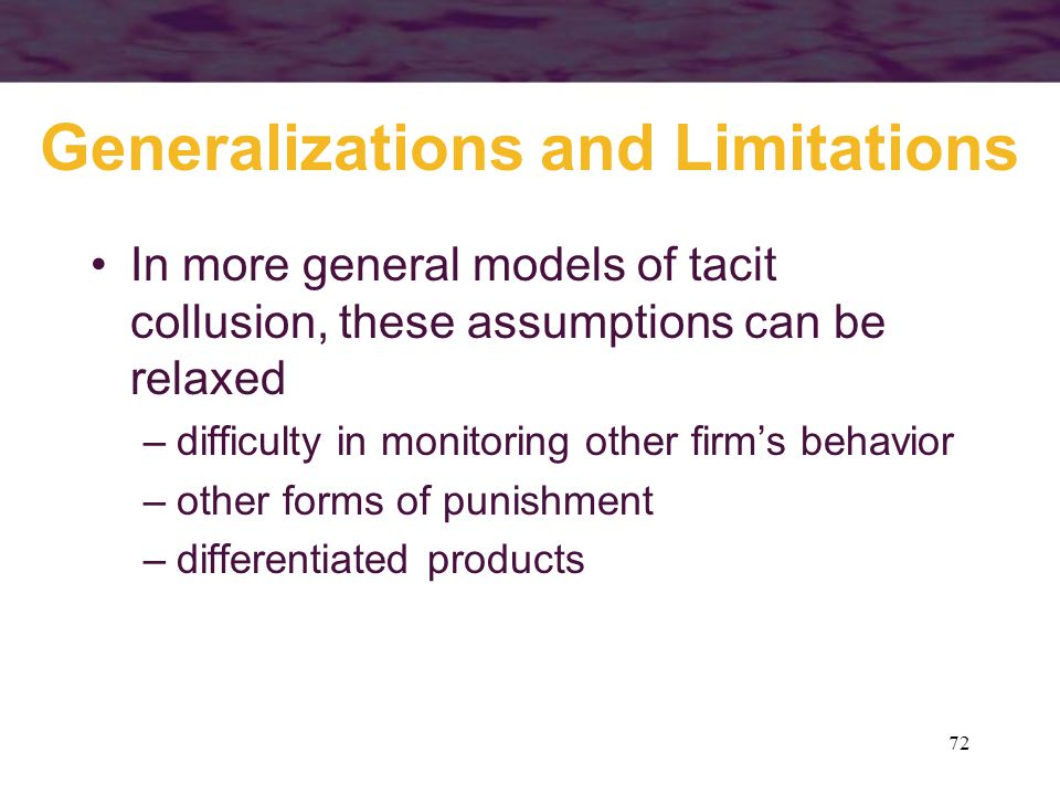 Generalizations and Limitations
