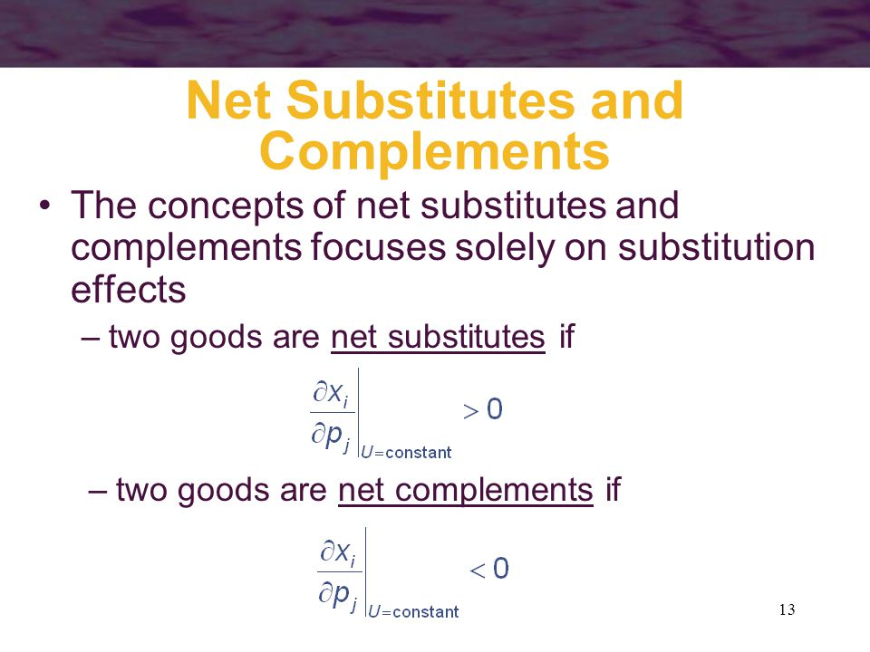 Net Substitutes and Complements
