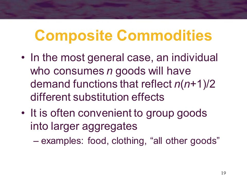 Composite Commodities