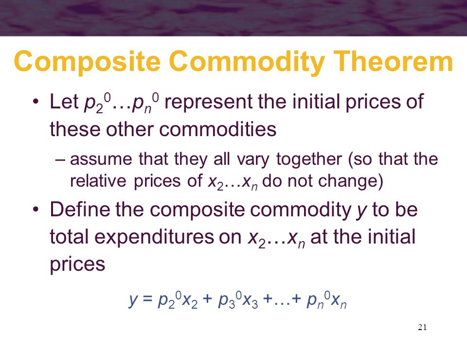 Composite Commodity Theorem