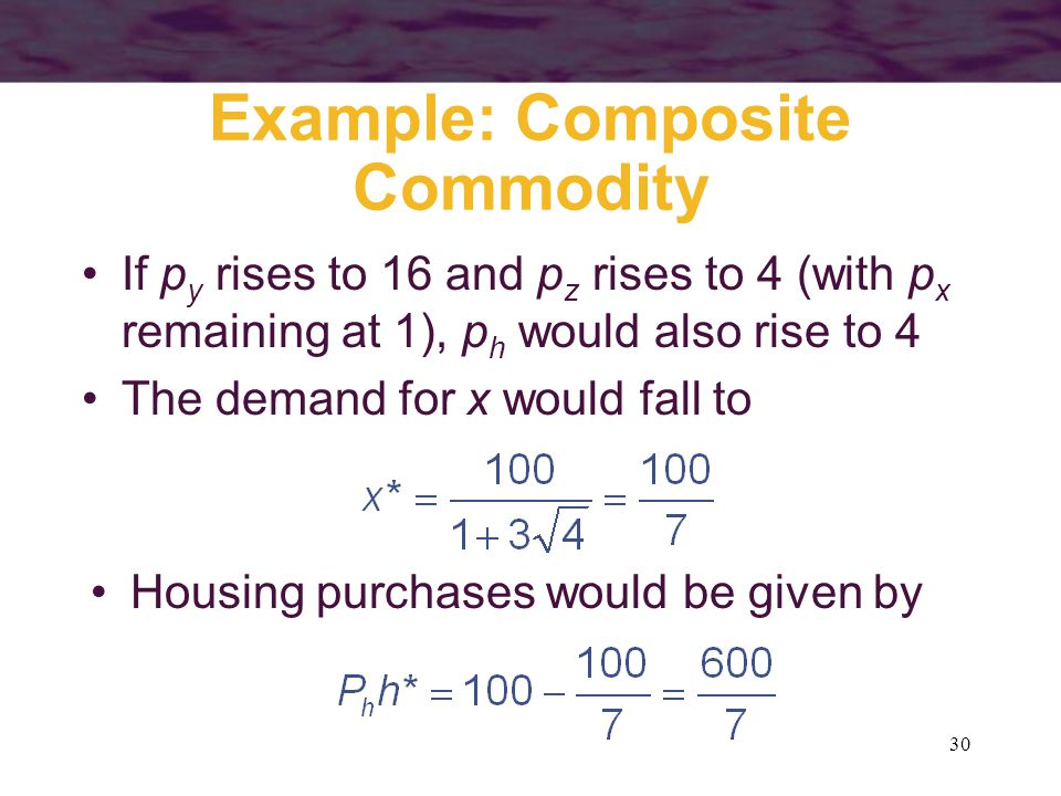 Example: Composite Commodity