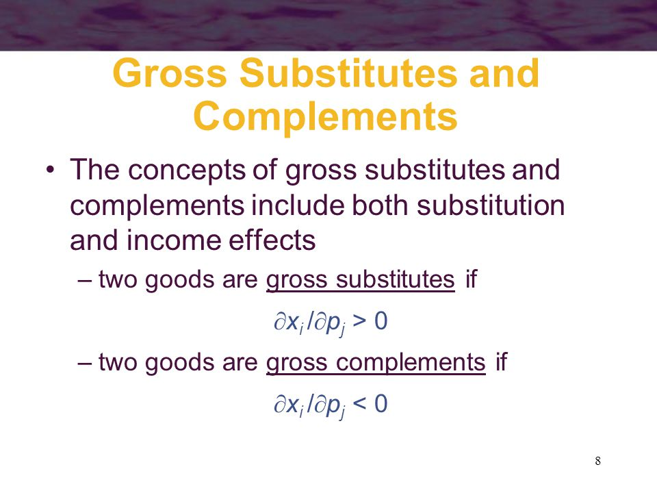 Gross Substitutes and Complements