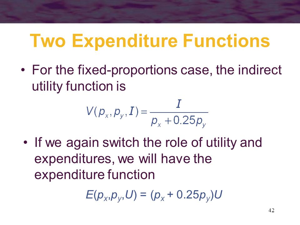 Two Expenditure Functions