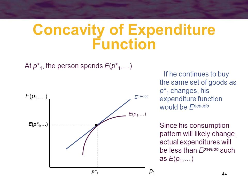 Concavity of Expenditure Function