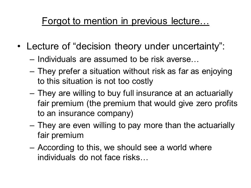 Forgot to mention in previous lecture…