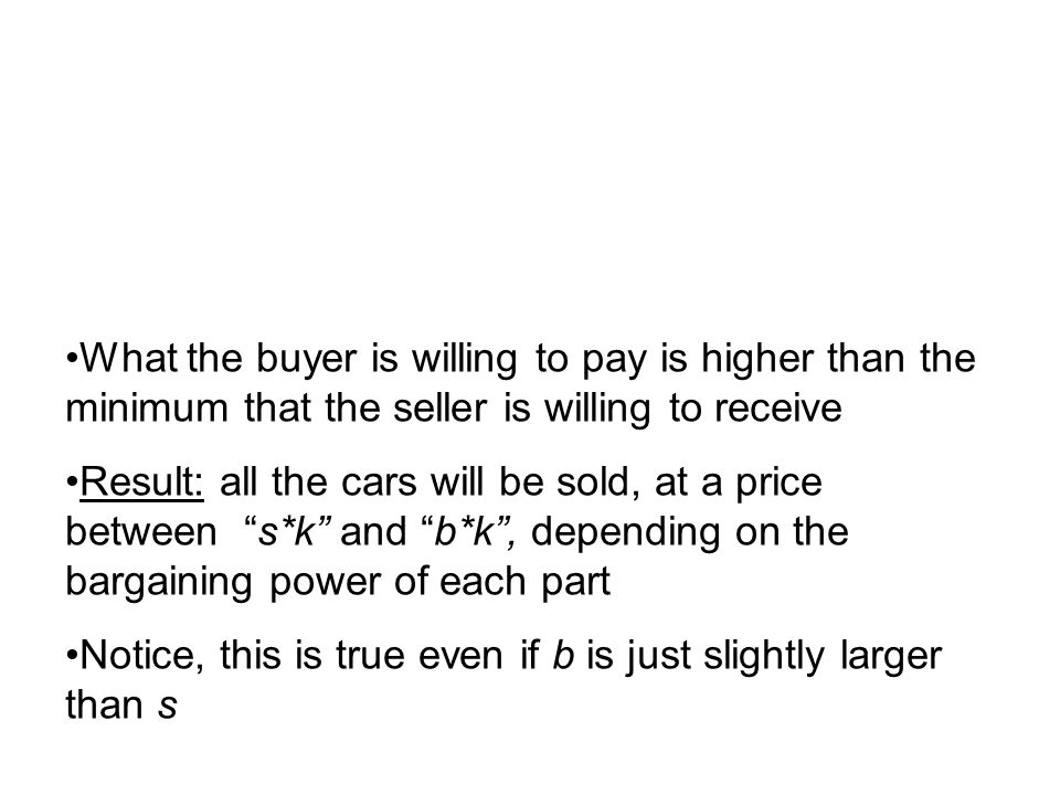 What the buyer is willing to pay is higher than the minimum that the seller is willing to receive