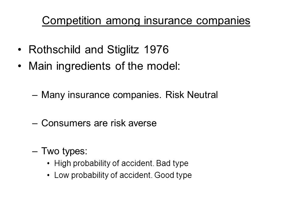 Competition among insurance companies