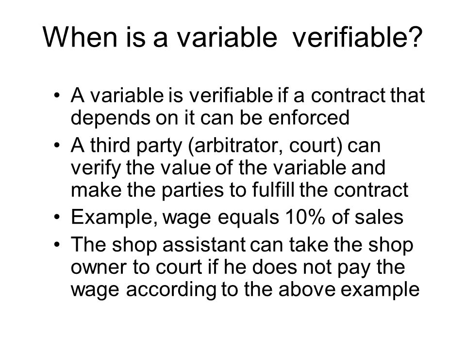 When is a variable verifiable