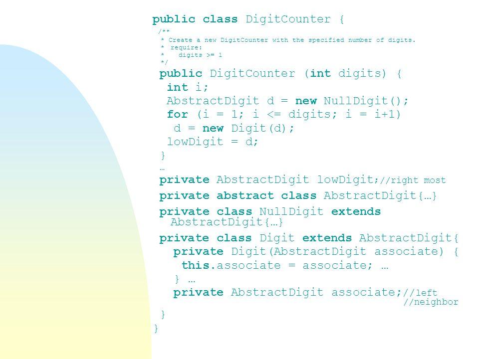 public class DigitCounter {