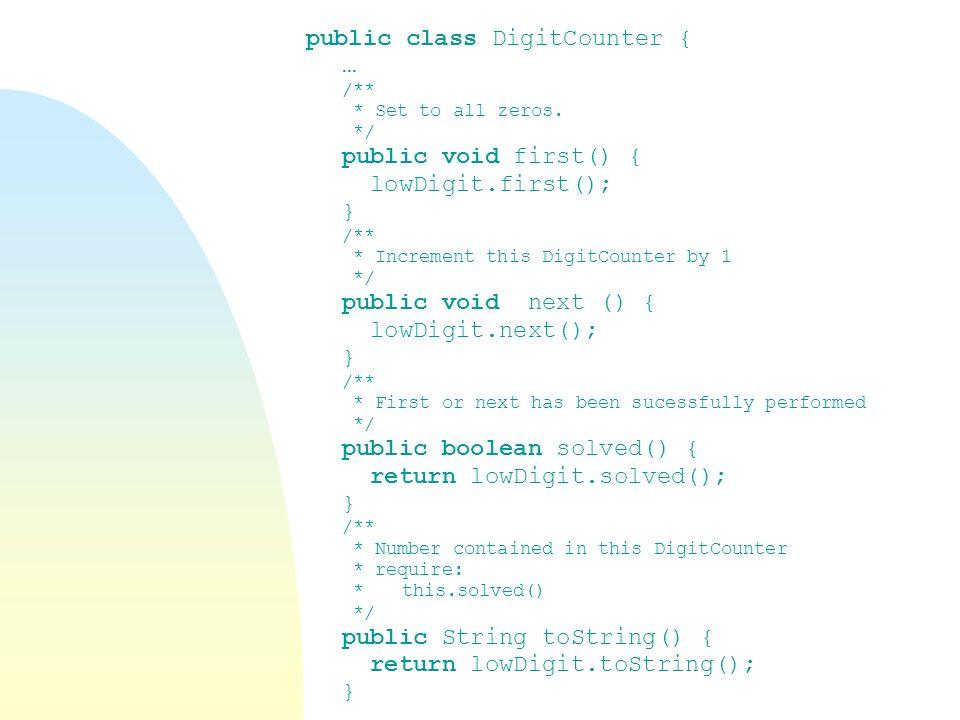 public class DigitCounter { …