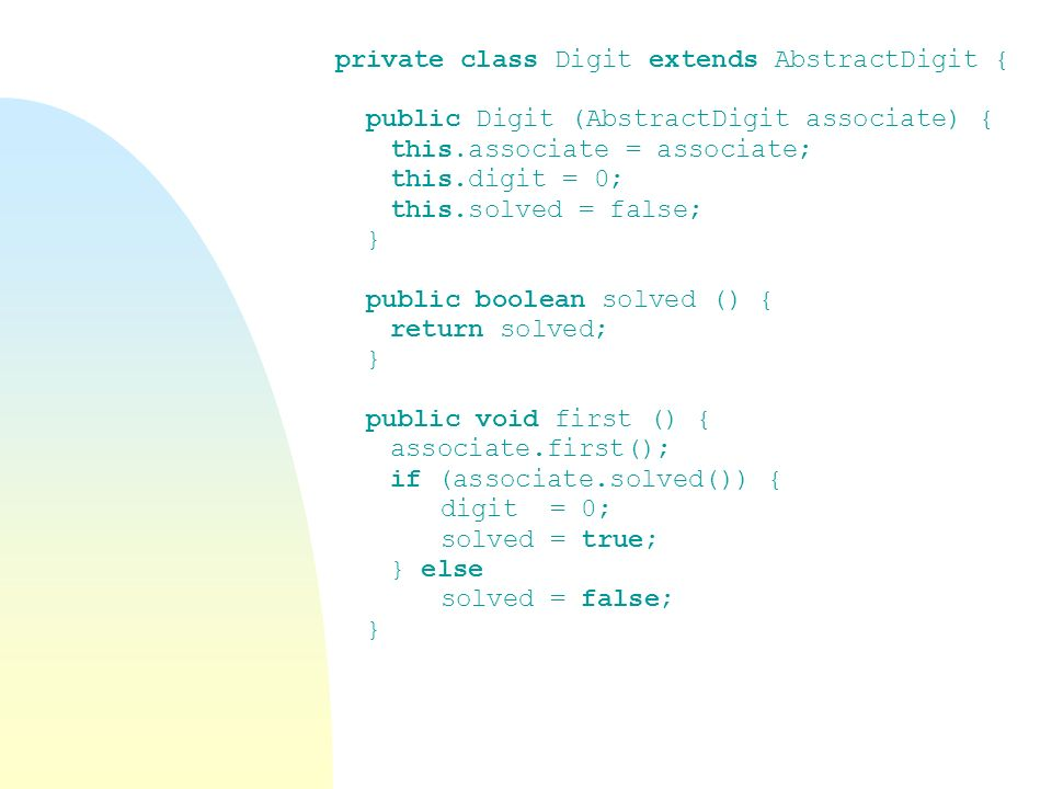 private class Digit extends AbstractDigit {