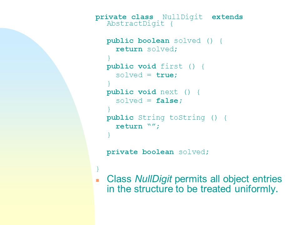 private class NullDigit extends AbstractDigit {