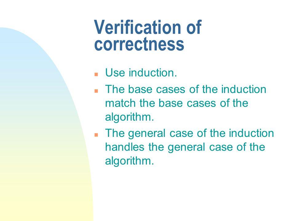Verification of correctness