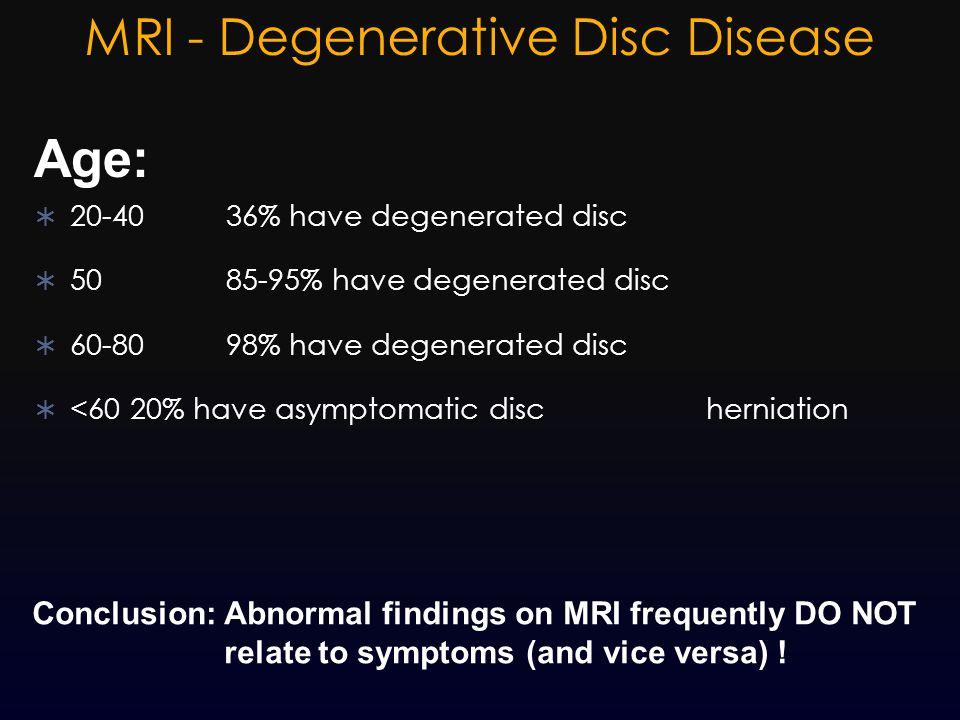 MRI - Degenerative Disc Disease