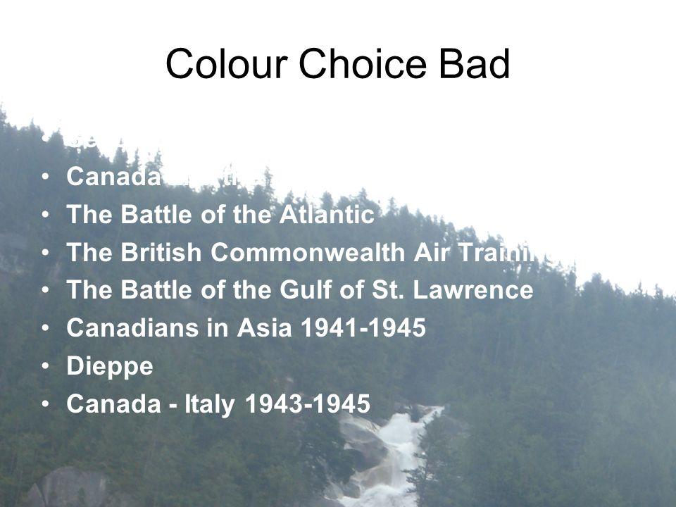 Colour Choice Bad Second World War Historica Minutes