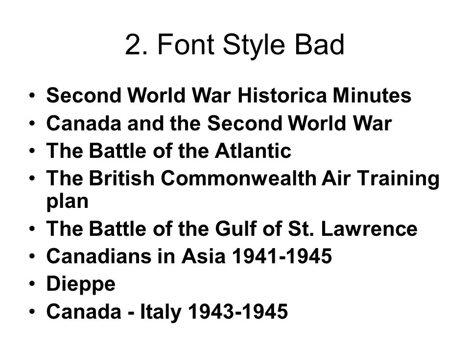 2. Font Style Bad Second World War Historica Minutes