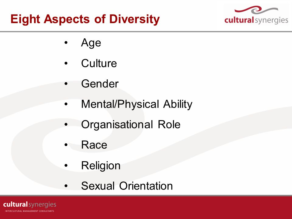 Eight Aspects of Diversity