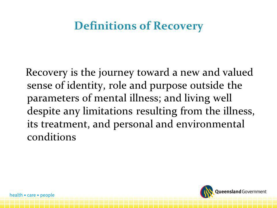 Definitions of Recovery