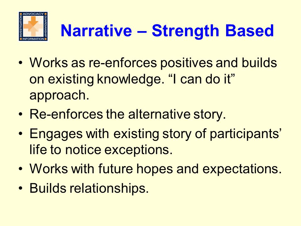 Narrative – Strength Based