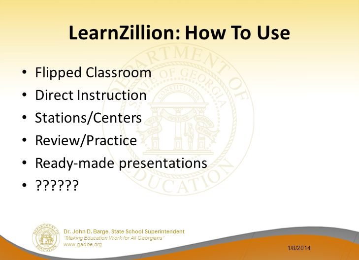 LearnZillion: How To Use