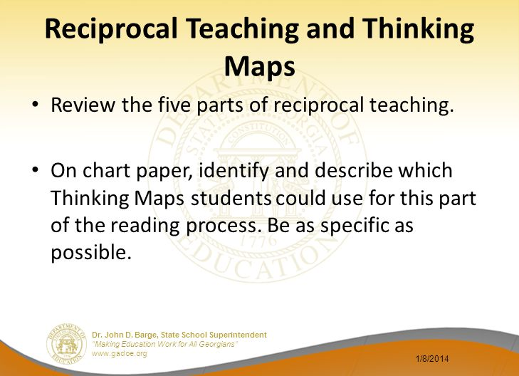 Reciprocal Teaching and Thinking Maps