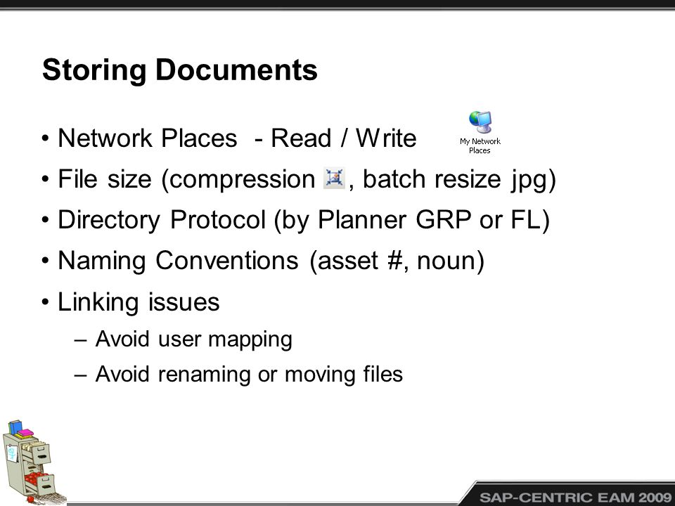 Storing Documents Network Places - Read / Write