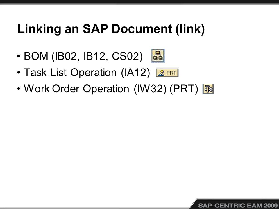 Linking an SAP Document (link)