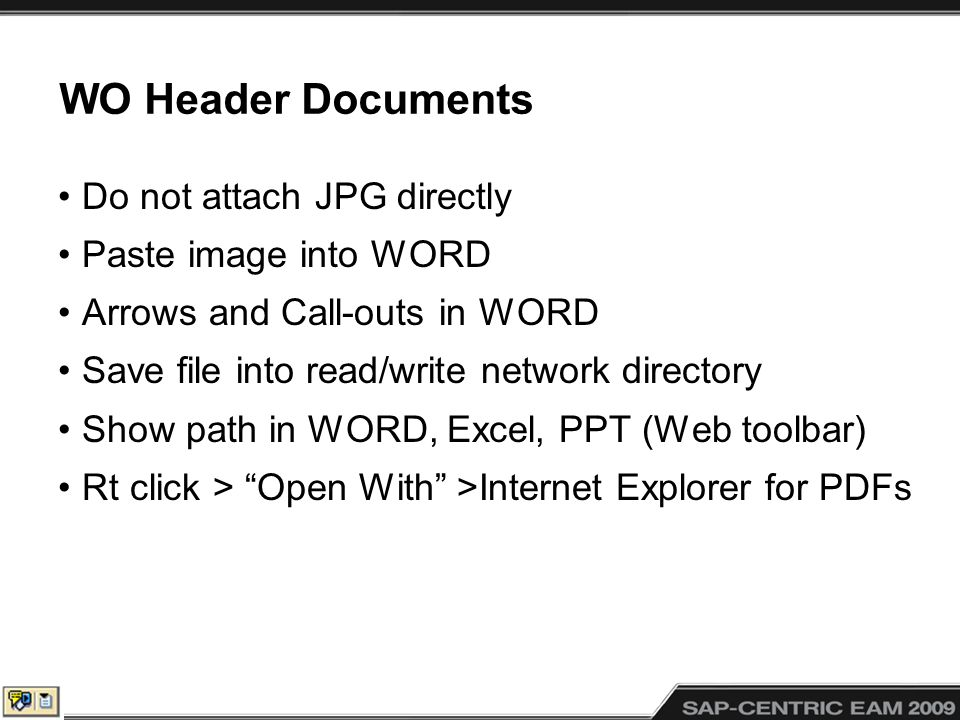 WO Header Documents Do not attach JPG directly Paste image into WORD