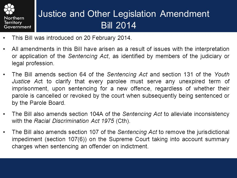 Justice and Other Legislation Amendment Bill 2014