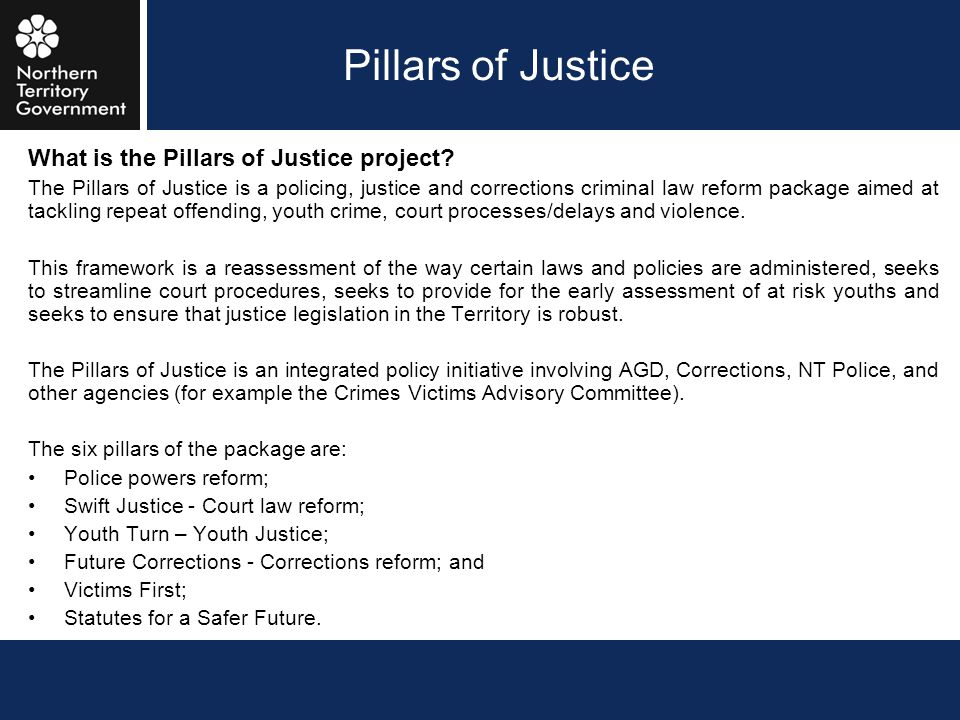 Pillars of Justice What is the Pillars of Justice project