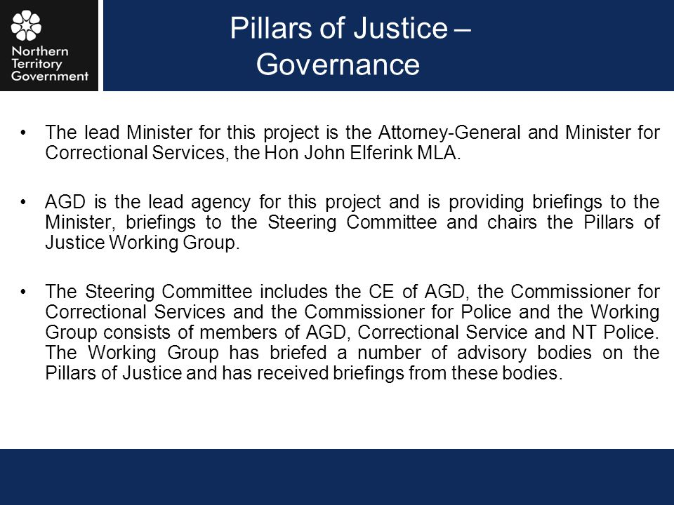 Pillars of Justice – Governance